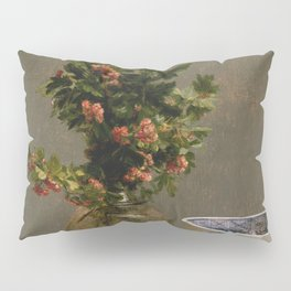 Henri Fantin Latour - Still Life With Vase Of Hawthorn Pillow Sham