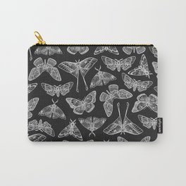 Lepidoptera Black & White Carry-All Pouch