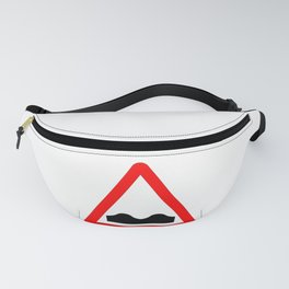 Uneven Road Traffic Sign Isolated Fanny Pack