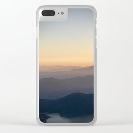 Mountain Mist Clear iPhone Case