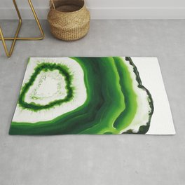 Green Agate Geode slice Rug