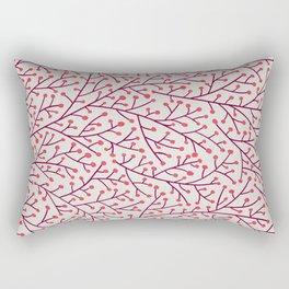 Pink Berry Branches Rectangular Pillow