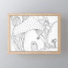 Mushroom House Framed Mini Art Print