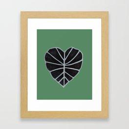 Elephant Ear Leaf Framed Art Print