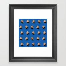 Luke Flat Design Mosaic Framed Art Print
