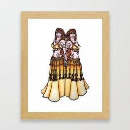 Gemini Twin Belly Dancers Framed Art Print