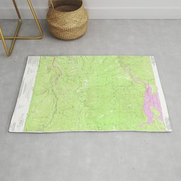 Riverton, CA from 1950 Vintage Map - High Quality Rug