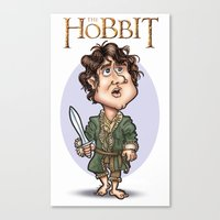 the hobbit Canvas Prints featuring The Hobbit by Roberto Núñez