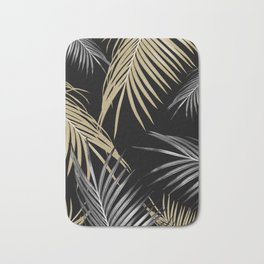 Gold Gray Palm Leaves Dream #1 #tropical #decor #art #society6 Bath Mat