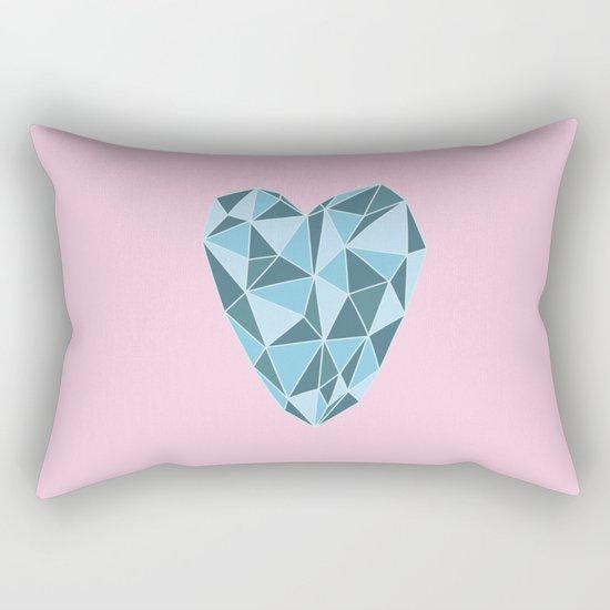 Geometric Heart Rectangular Pillow
