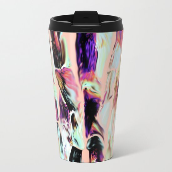 Marbling Sugarcane Peach Metal Travel Mug