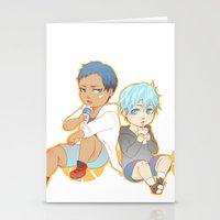 kuroko Stationery Cards featuring aomine daiki kuroko tetsuya by angryorangecat