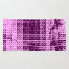 Phillip Gallant Media Design - Purple Shapes on Pink Beach Towel