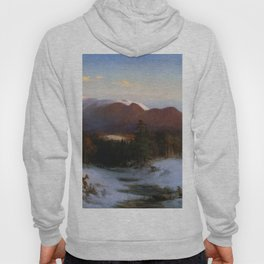 Mount Lafayette In Winter 1870 By Thomas Hill | Reproduction Hoody