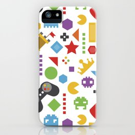 video game pattern iPhone Case