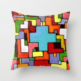 Grüne Kreuz Throw Pillow