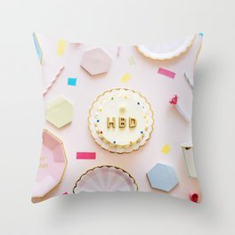 Happy Birthday Throw Pillow