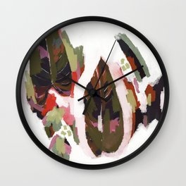 Tropical Red Wall Clock