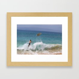 No Board, No Problem Framed Art Print