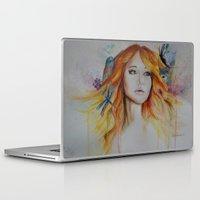 jennifer lawrence Laptop & iPad Skins featuring Jennifer Lawrence Watercolor  by Halinka H