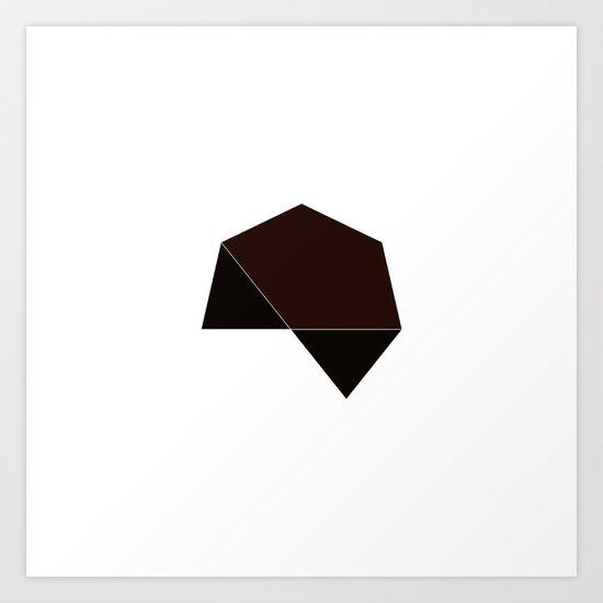 #215 Dark star – Geometry Daily Art Print
