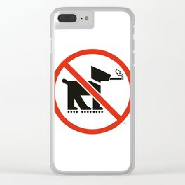 No smoking dogs on rollerblades allowed Clear iPhone Case