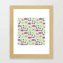 fruits and vegetables Framed Art Print