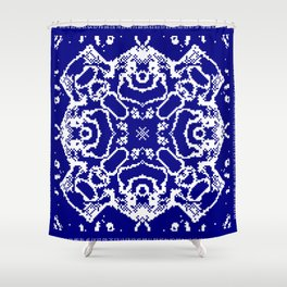 CA Fantasy Deep Blue-White series #7 Shower Curtain