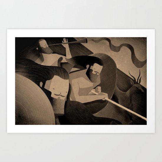 Gadite Warriors (by Andrew Lyons) Art Print