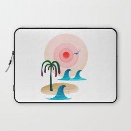 059 - Owly enjoying the positive vibes at the beach Laptop Sleeve