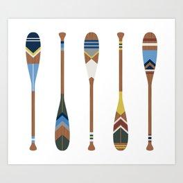 Painted Oars Art Print