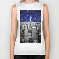 new york city Biker Tanks featuring new york city. Blue Stars by 2sweet4words Designs