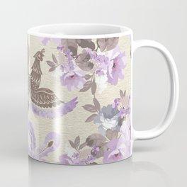 Phoenix Bird with watercolor flowers Coffee Mug