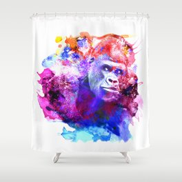 Gorillas are some of the most powerful and striking animals Shower Curtain