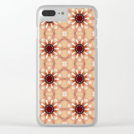 Flowers Mandala Pattern Clear iPhone Case