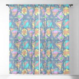 Nineties Dinosaur Pattern Sheer Curtain