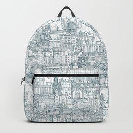 Edinburgh toile denim white Backpack