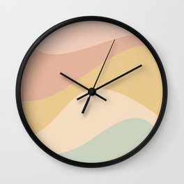 Abstract Color Waves - Neutral Pastel Wall Clock