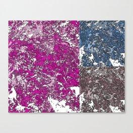 3 grunge paint stains texture Canvas Print