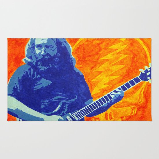 Jerry Garcia The Grate Tipsy Monkey 34 99 Grateful Dead Area Throw Rugs