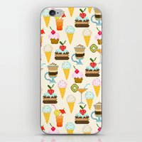 dessert iPhone & iPod Skins featuring Dessert by Valendji