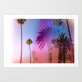 Sunshine and Palm Trees Art Print