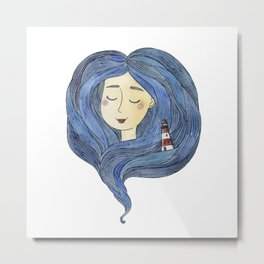 sea hair Metal Print