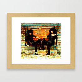 21ST CENTURY LAVERNE AND SHIRLEY Framed Art Print