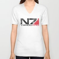 n7 V-neck T-shirts featuring Alt Vanguard by Draygin82
