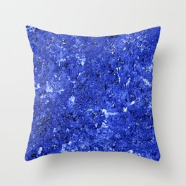 Abstract Background in Cobalt Blue Throw Pillow