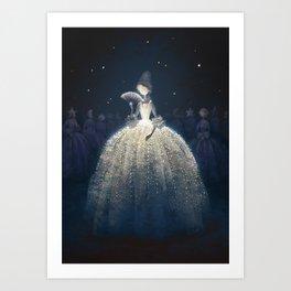Moon countess Art Print