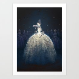 Moon countess Art Print