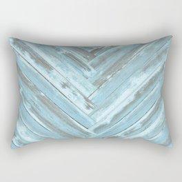 Reclaimed Wood in a Chevron Pattern  Rectangular Pillow