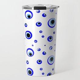 Evil eye pattern.nazarlik  Travel Mug